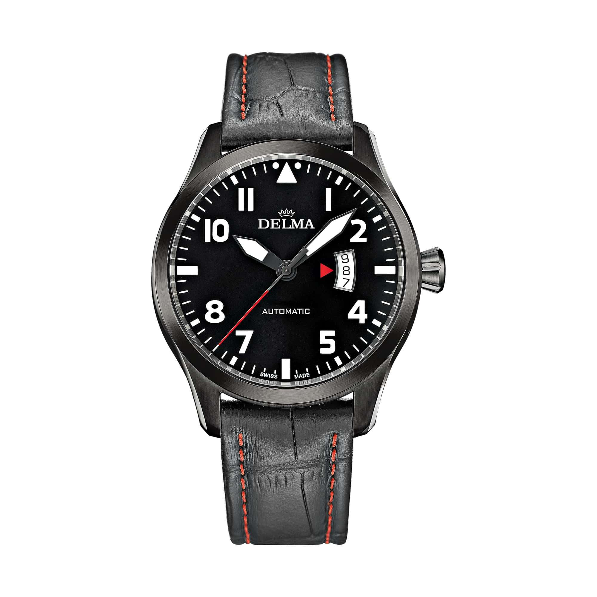 Delma Aero Commander Automatic Black PVD 44601.570.6.038 – Swiss Time