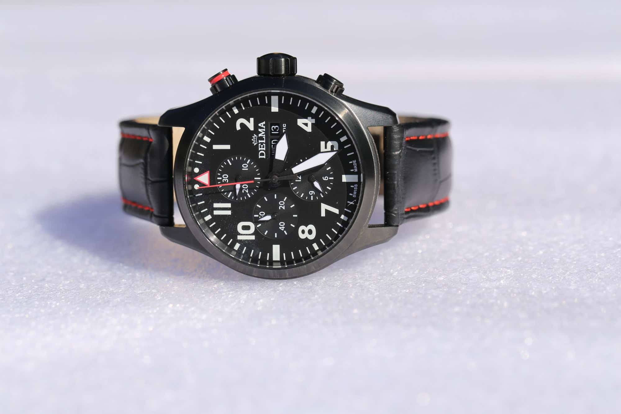 Delma Aero Commander Chronograph Automatic Black PVD 44601.580.6.038 – Swiss Time
