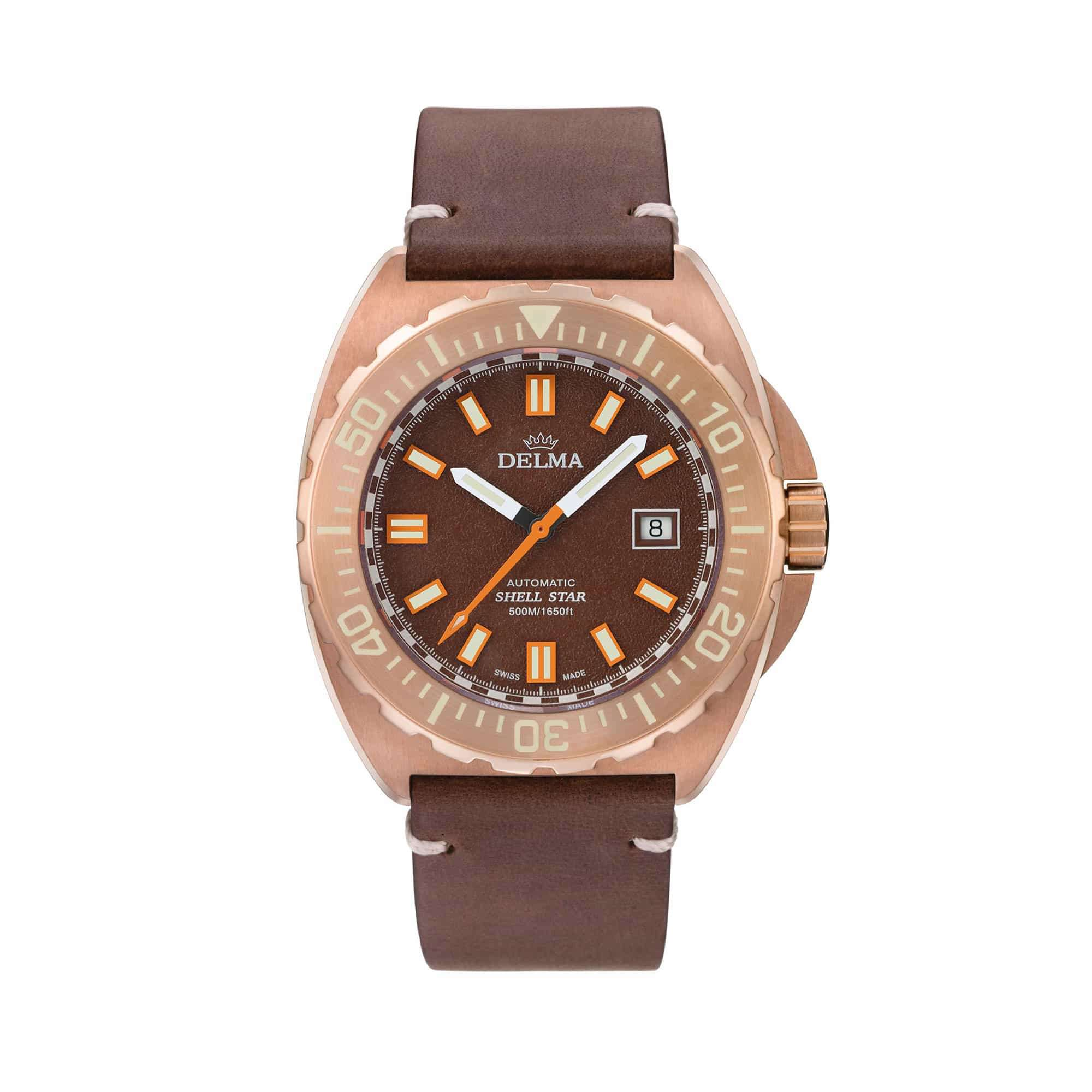 Delma Shell Star Bronze Brown Dial 31601.670.6.101 – Swiss Time