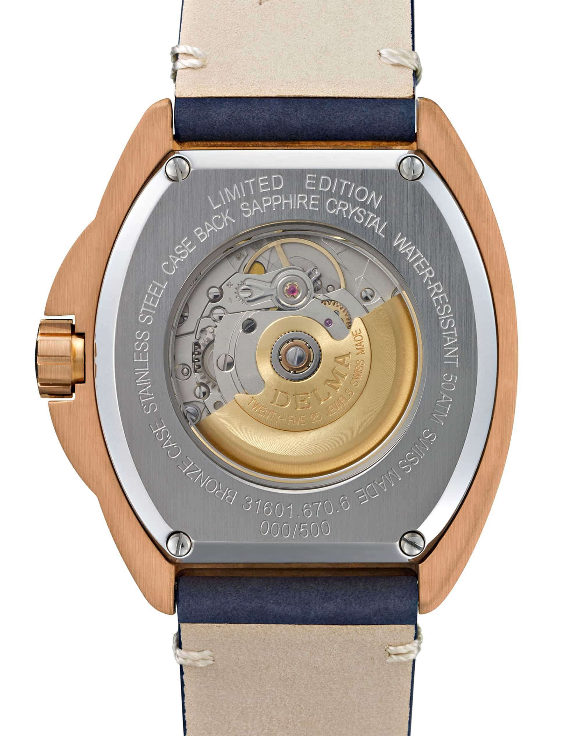 Delma Shell Star Bronze Blue Dial 31601.670.6.048 – Swiss Time