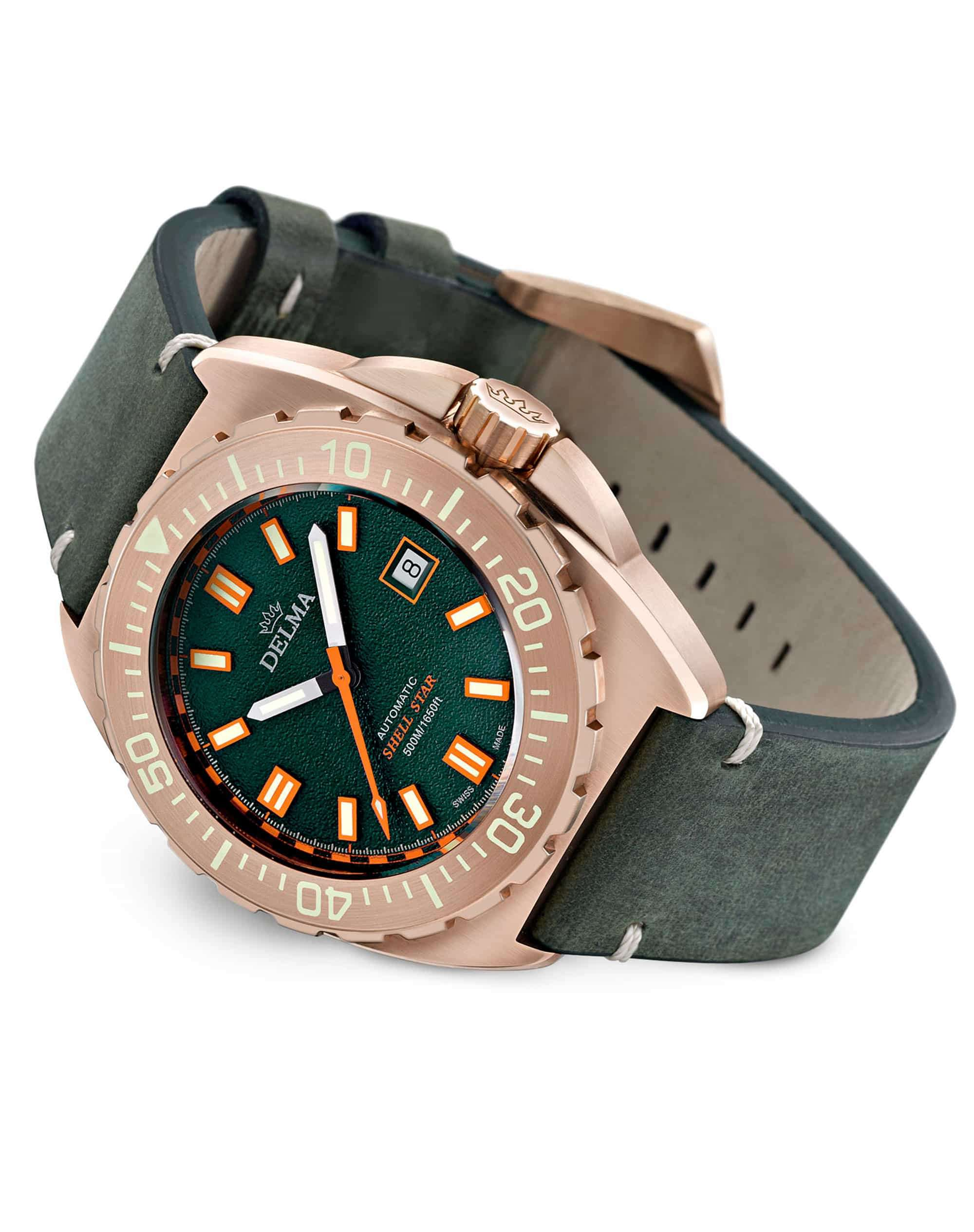 Delma Shell Star Bronze Green Dial 31601.670.6.148 – Swiss Time