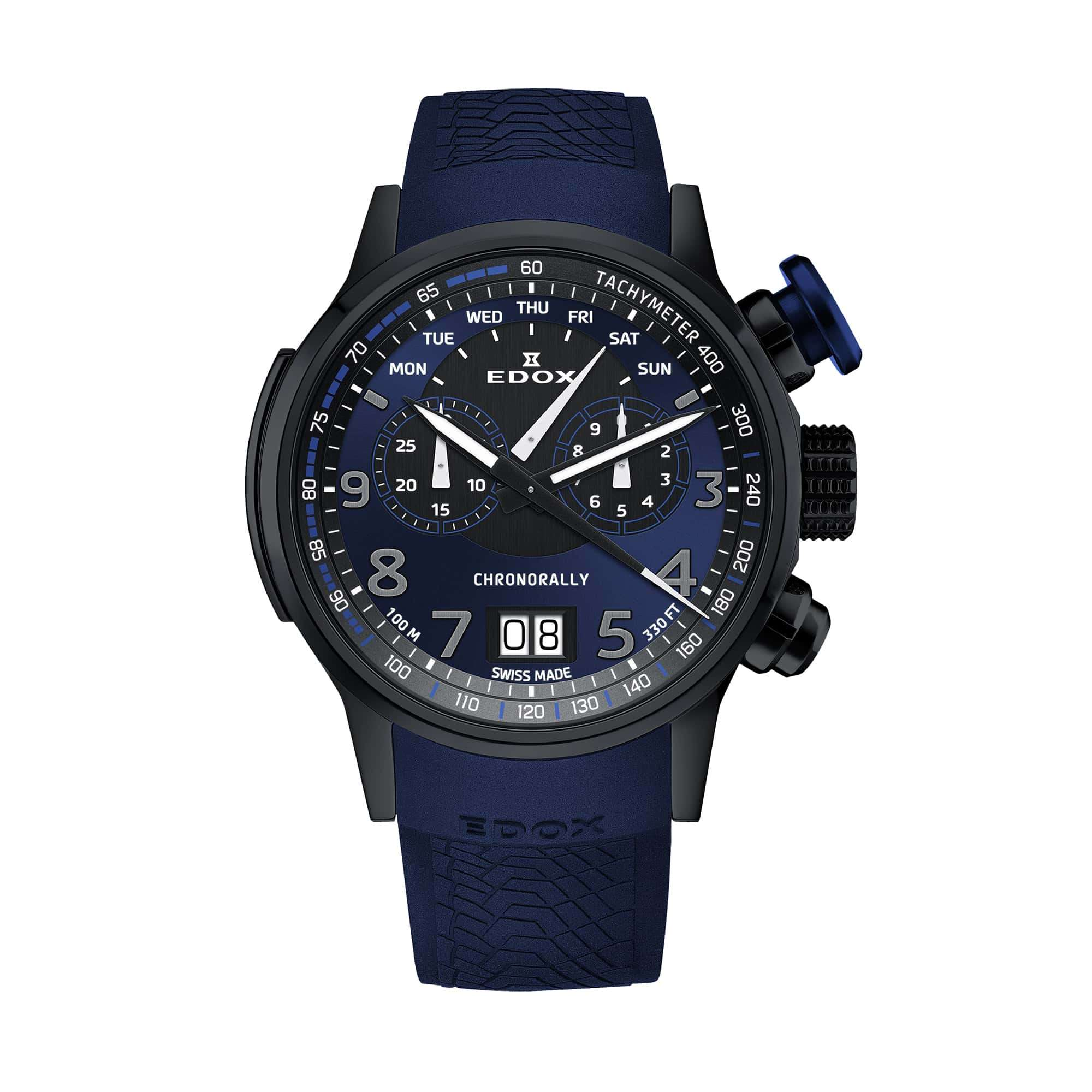 Edox Chronorally Chronograph 38001-TINNBUF3-BUF3 – Swiss Time