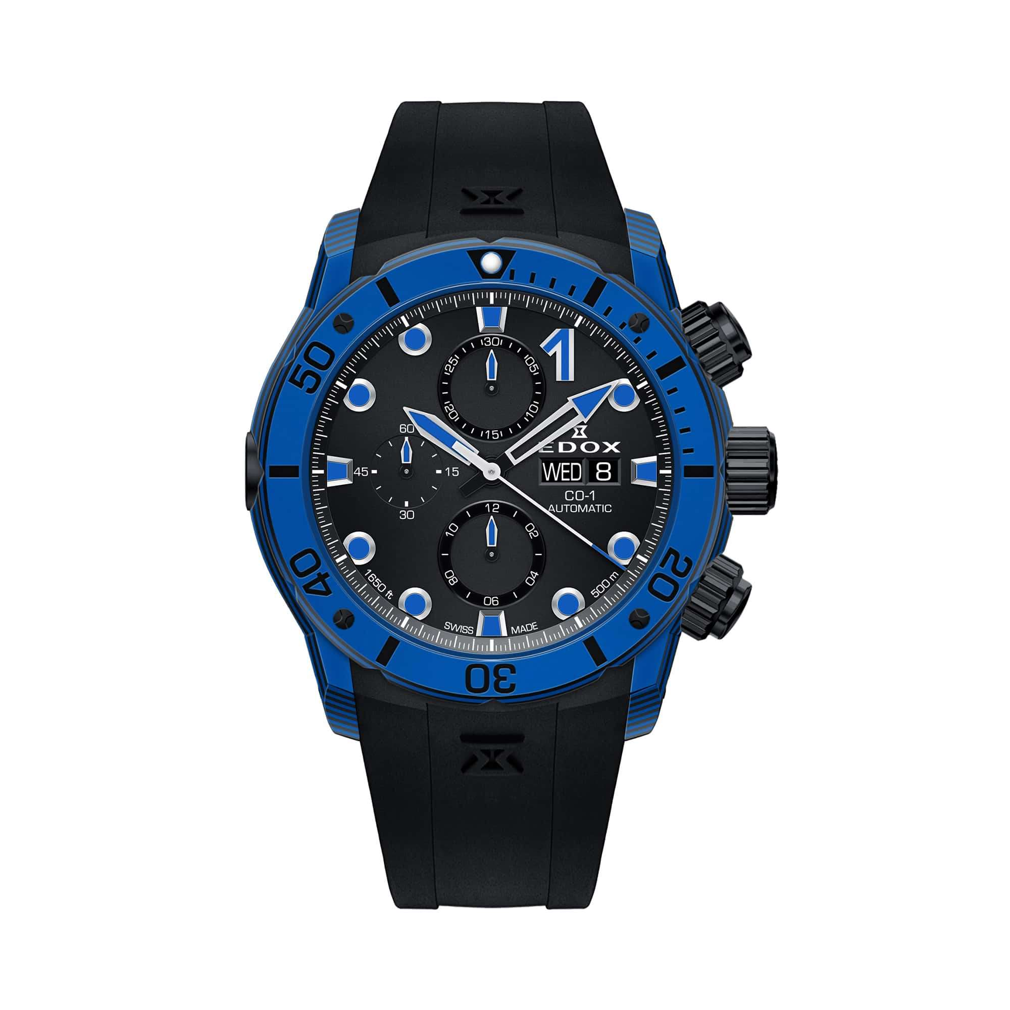 Edox CO-1 Carbon Chronograph Automatic 01125-CLNBUN-NINBU – Swiss Time