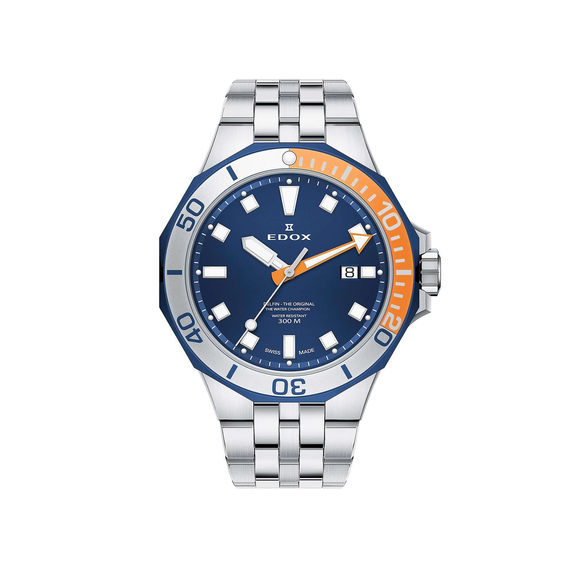 Edox Delfin Diver Date 53015-357BUOM-BUIN – Swiss Time