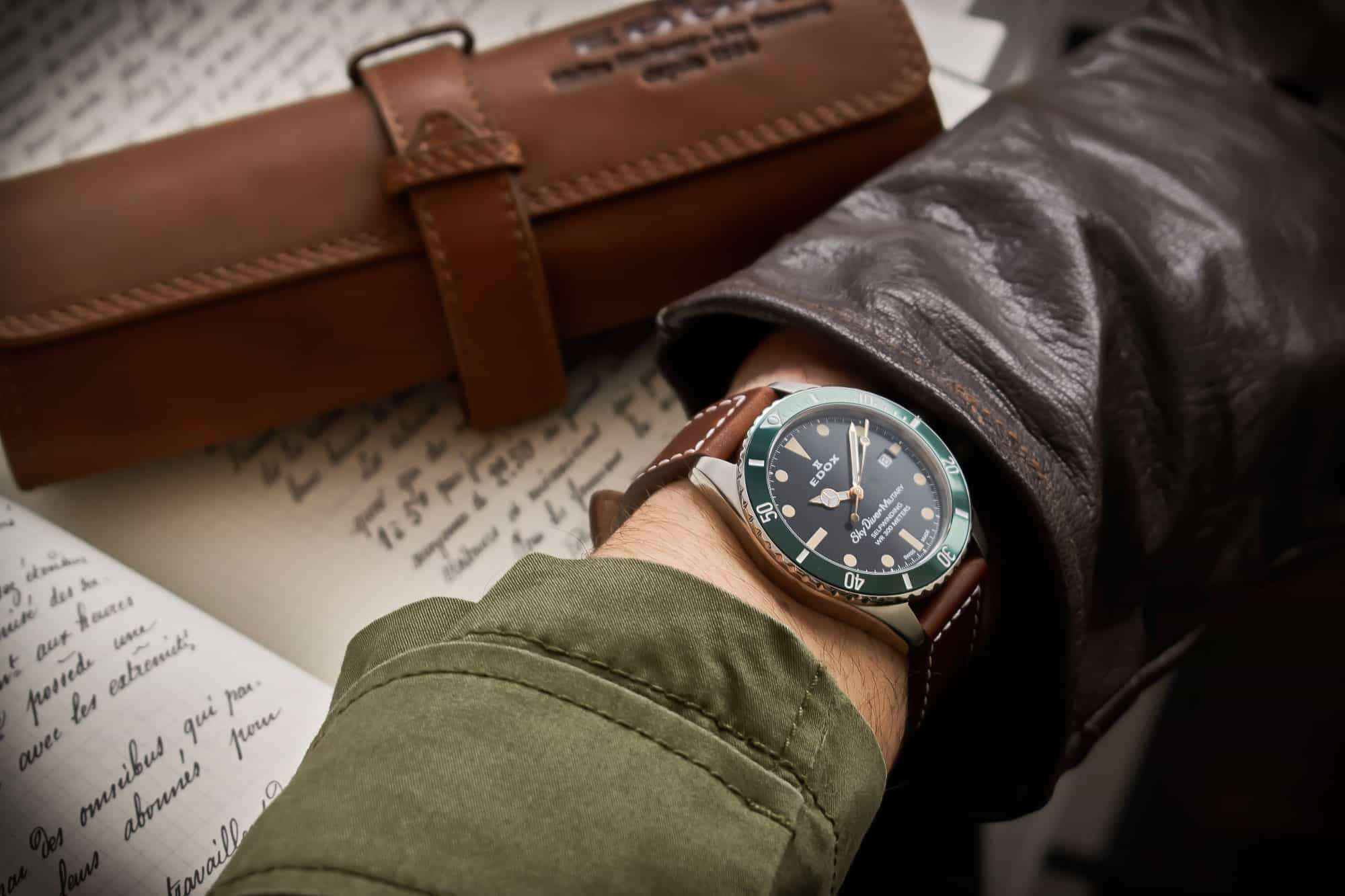 Edox SkyDiver Military Automatic Limited Edition 80112-3VM-NIBEI – Swiss Time